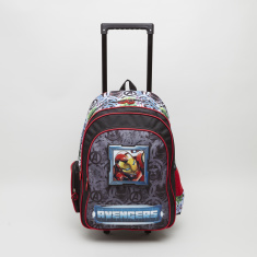 Avengers Print Trolley Backpack with Shoulder Straps - 32x15x45.7 cms