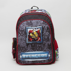 Avengers Print Backpack with Shoulder Straps - 32x15x45.7 cms
