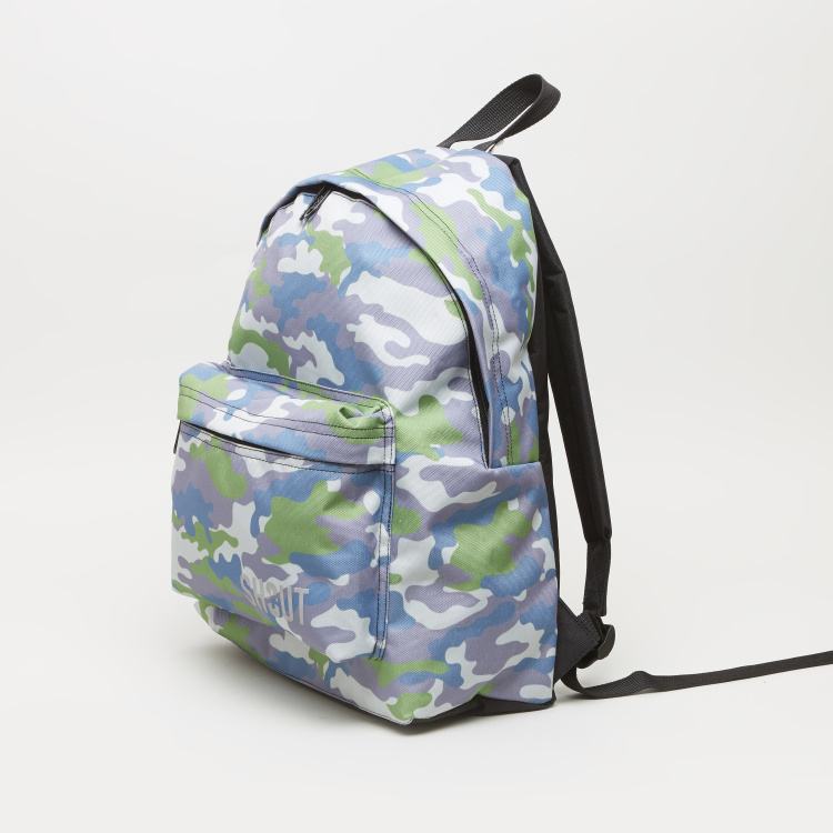 SHOUT American Printed Backpack and Pouch Set - 31x15x40 cms