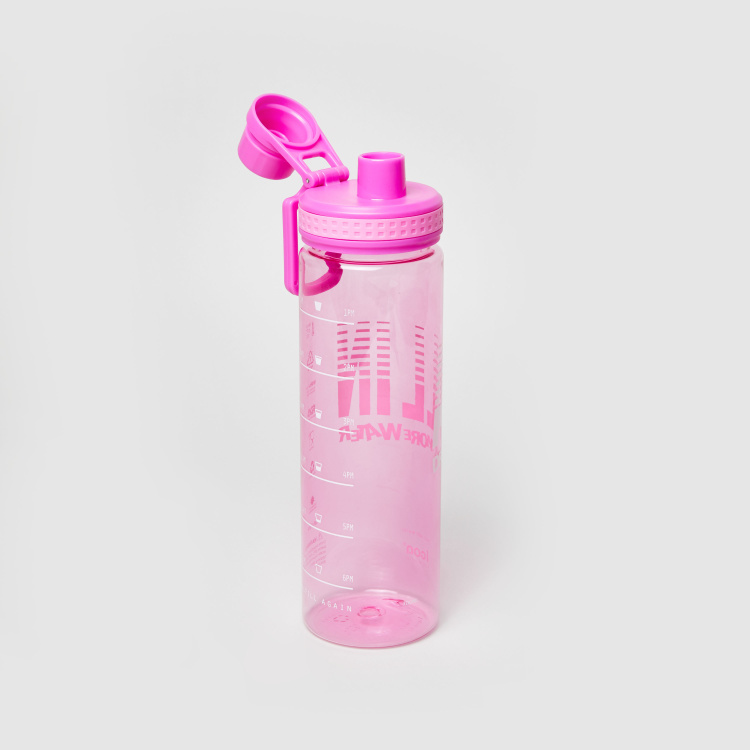 icon Print Water Bottle with Removable Cap