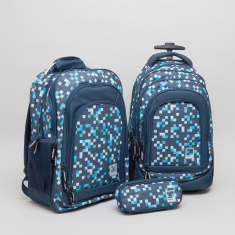 Pantone Pixel Printed Backpack with Zip Closure - 45x33x17 cms