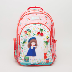 Santoro Printed Backpack with Applique Detail