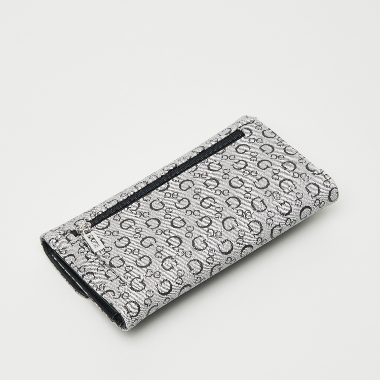 Guess Signature Gleeson Printed Slim Clutch
