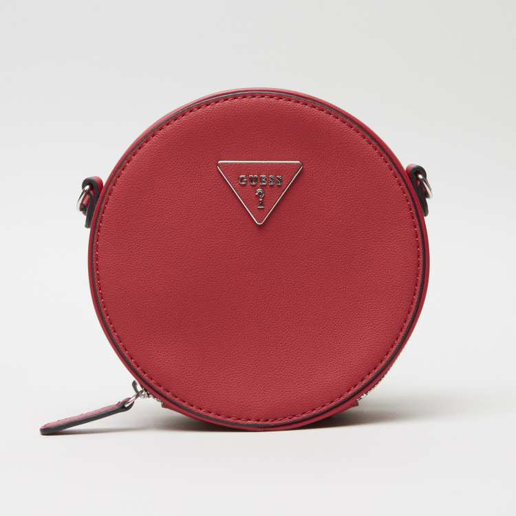 Guess Levine Round Crossbody Bag with Zip Closure