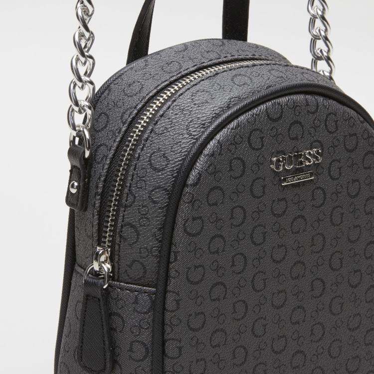 Guess Printed Crossbody Bag with Chain Strap