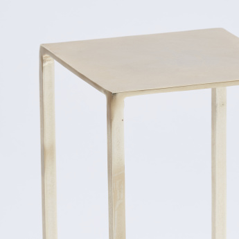 Aries Metallic Accent Table - 26x26x63 cms