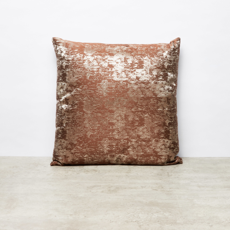Ernie Jacquard Patterned Square Cushion - 45x45 cms