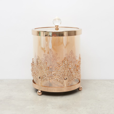 Embellished Glass Canister - 12x12x17.5 cms