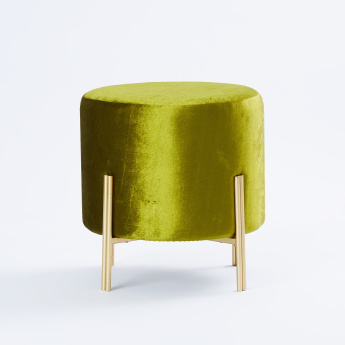 Outstanding Billy Round Velvet Metal Ottoman 41X41X42 Cms Caraccident5 Cool Chair Designs And Ideas Caraccident5Info