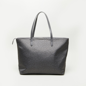 Fiorelli Printed Tote Bag with Dual Handles and Zip Closure
