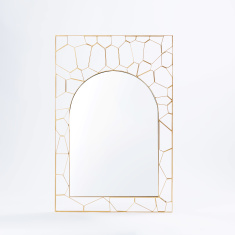 Adel Metallic Rectangular Wall Mirror - 60x90 cms