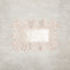 Jane Velvet Rectangular Embroidered Placemat - 30x45 cms
