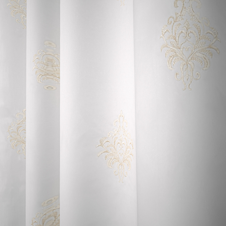 Lorie Embroidered Sheer 2-Piece Curtain Set - 130x240 cms
