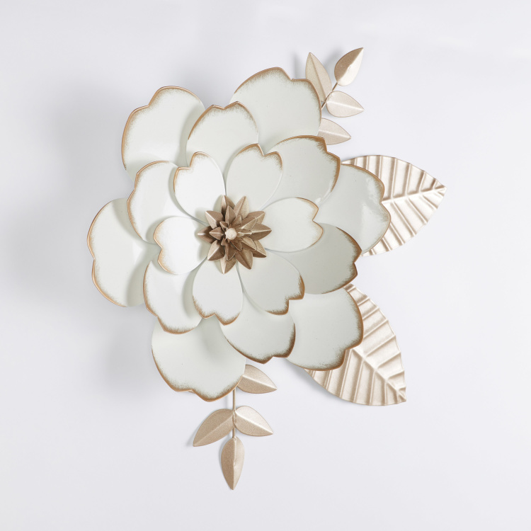 Metallic Glazed Flower Wall Decor