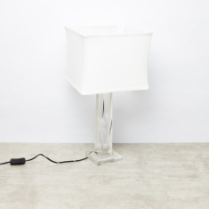 Crystal Table Lamp - 28x28x56 cms