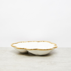Plate with Beaded Border - 2.54 cms