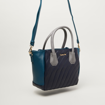 Charlotte Reid Quilted Tote Bag with Logo Detail