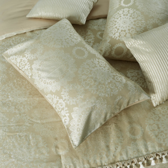 Jacquared Printed 5-Piece King Comforter Set - 220x240 cms