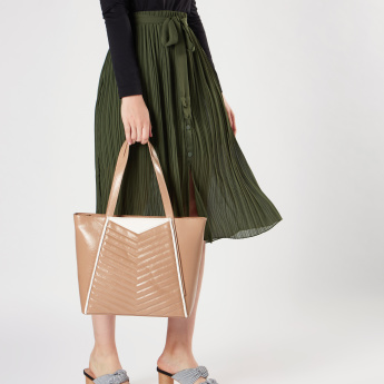 Sasha Textured Shopper Bag