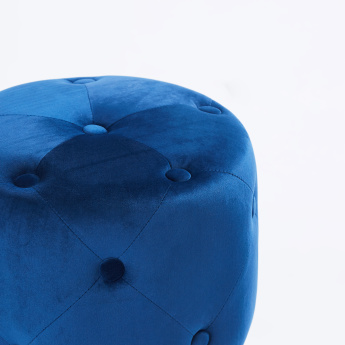 Tufted Ottoman with Button Detail - 32x32x39 cms