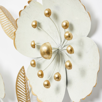 Flower Shaped  Wall Decor with Metallic Glaze