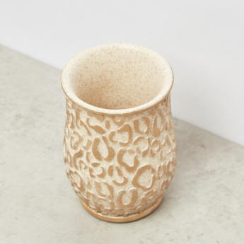Glazed Leopard Pattern Embossed Tumbler