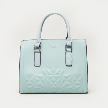 Bessie London Tote Bag with Embossed Design
