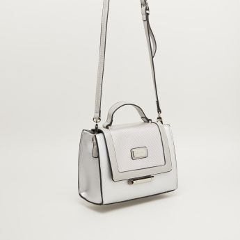 Bessie London Satchel Bag with Crossbody Strap