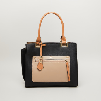 Bessie London Tote Bag with Zip Closure