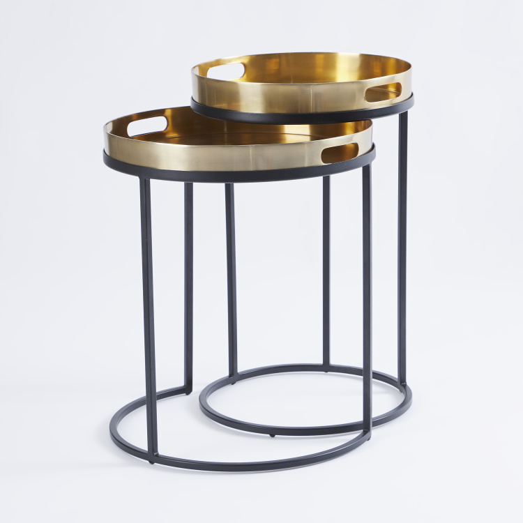 Metallic Accent Table - Set of 2