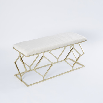 Rectangular 2-Seater Bench with Cushion - 110.5x40.5x52.5 cms