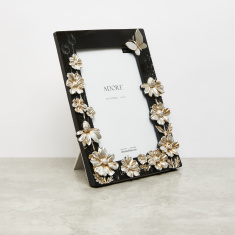 Rectangular Photo Frame with Floral Accent - 5x7 inches