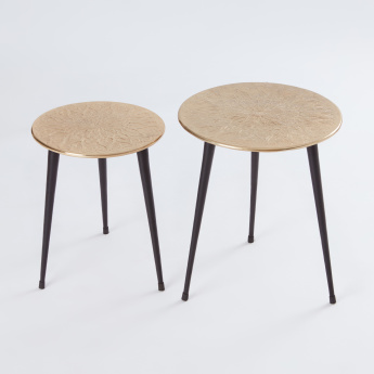 Round Accent Table - Set of 2