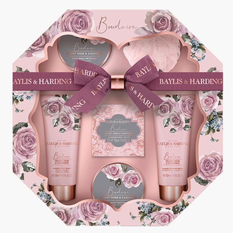 Boudoire Velvet Rose & Cashmere Hexagonal Tray Set