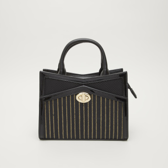Charlotte Reid Striped Tote Bag with Detachable Strap