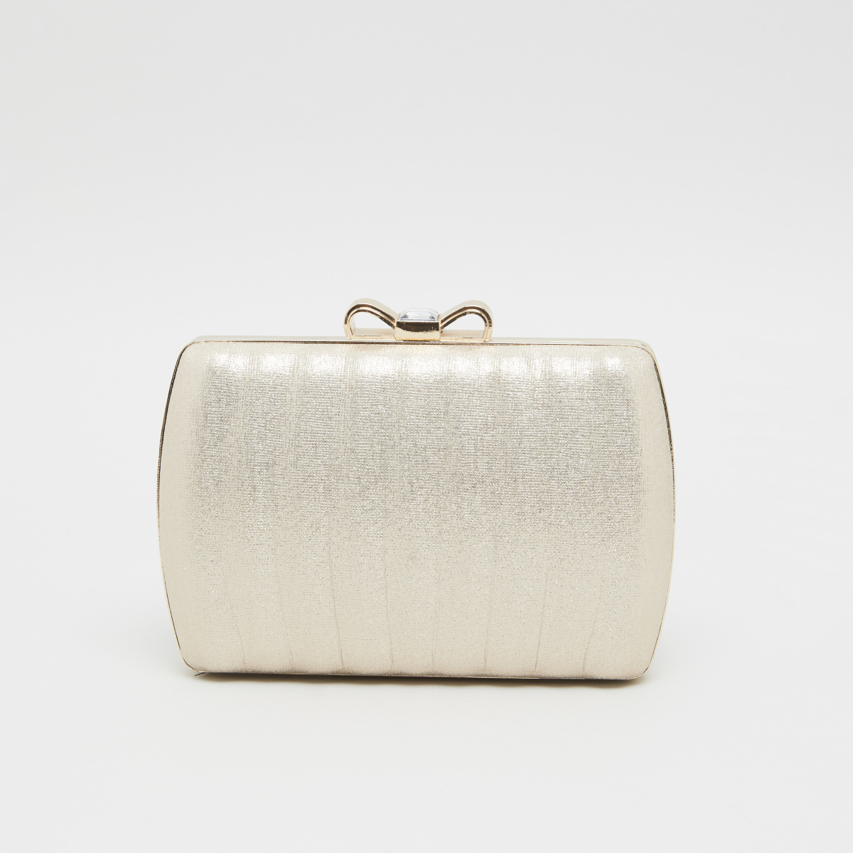 Sasha Textured Clutch with Bow Accent