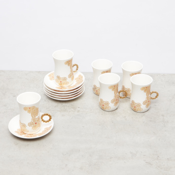 12-Piece Floral Printed Porcelain Tea Set