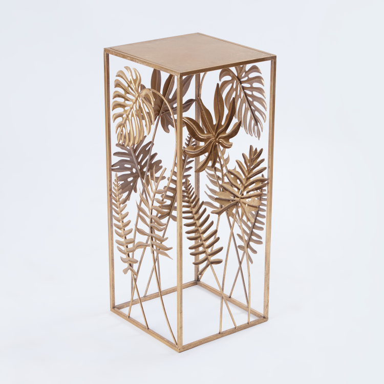 Metallic Accent Table - 34x34x80 cms