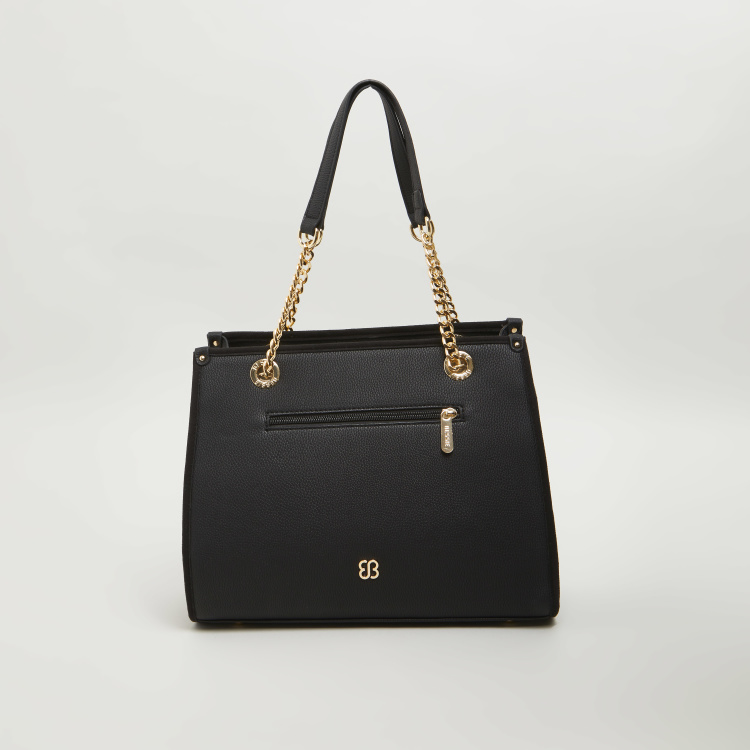 BESSIE London Tote Bag with Chain Handle