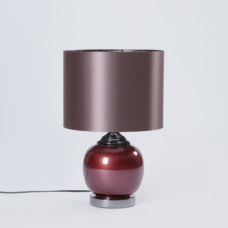 Glass Table Lamp - 30x30x47 cms