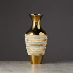 Classic Culture Embellished Decorative Vase - 19x19x43 cms