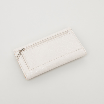 GUESS Tri-Fold Textured Flap Wallet