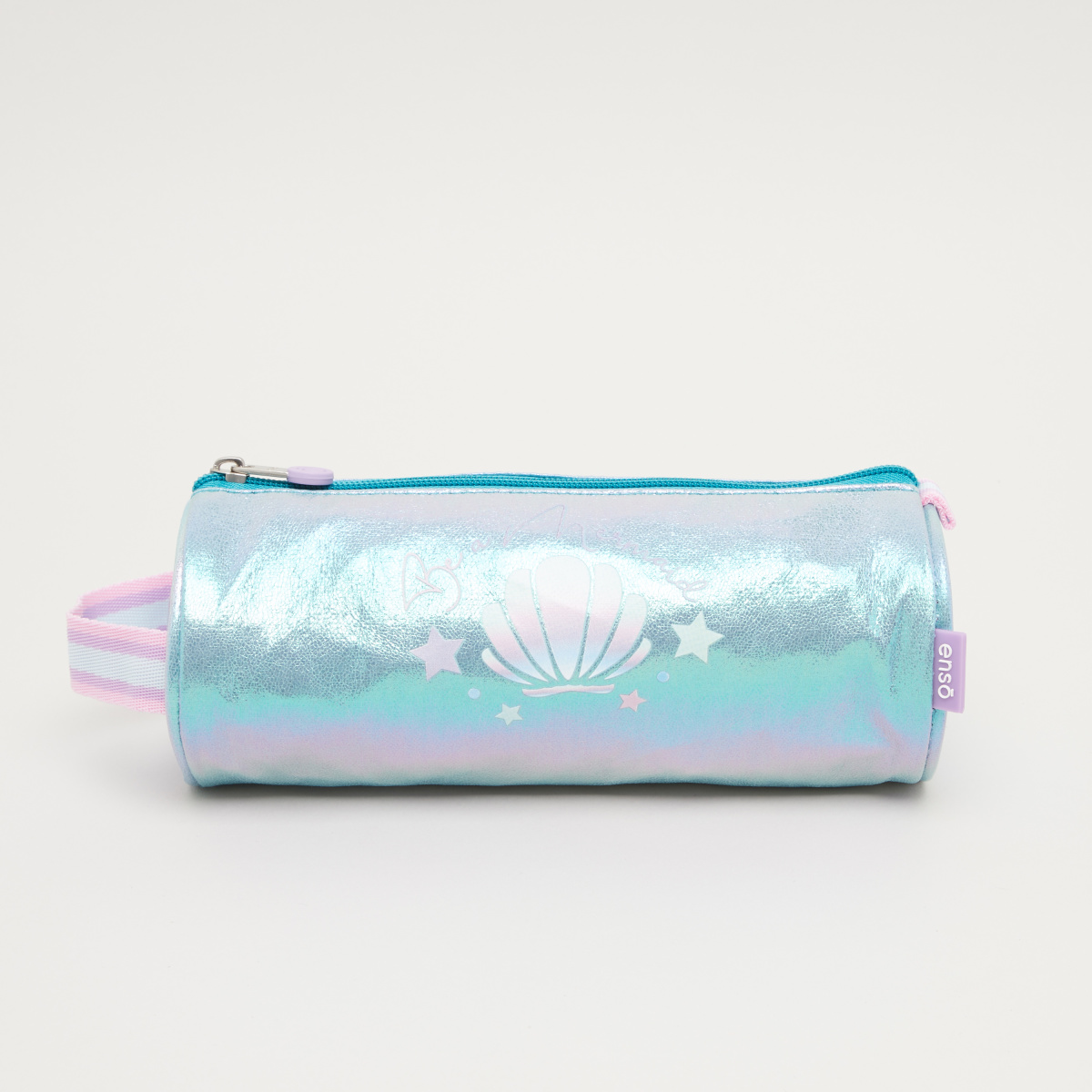 Enso Holographic Round Pencil Case with Grab Handle