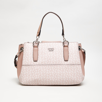 GUESS Logo Print Tote Bag with Crossbody Strap