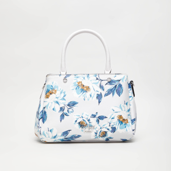 GUESS Floral Print Tote Bag with Double Handles
