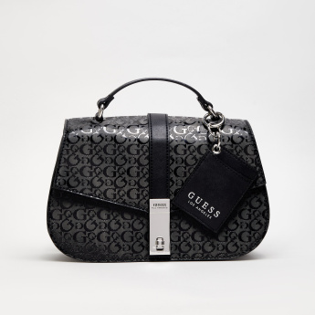GUESS Printed Crossbody Bag with Flap Closure