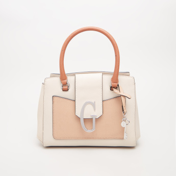 GUESS Colourblocked Tote Bag with Double Handles