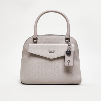 Guess Lalande Signature Shine Logo Dome Bag with Detachable Strap