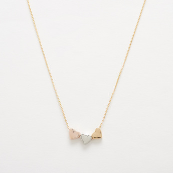 Single Chain Necklace with Heart Shaped Pendant