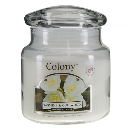 Colony Jasmine & Oud Wood Jar Candle
